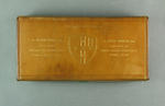 Leather case, housed sash worn by cricketer William Bruce in 1893