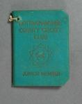 Membership ticket, Nottinghamshire County Cricket Club - Junior 1957