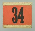 Cyclist's Cloth number - 34.