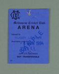 Sample arena pass, 1994 State of Origin match at MCG