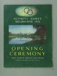 1956 Olympic Games Opening Ceremony Programme