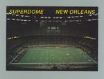 Postcard with images of Superdome, New Orleans