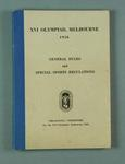 """Book, """"XVI Olympiad, Melbourne, 1956. General Rules and Special Sports Regulations"""""""
