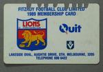 Fitzroy Football Club membership card, 1989