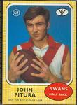1972 Scanlens VFL Football John Pitura trade card