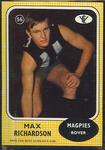 1972 Scanlens VFL Football Max Richardson trade card