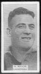 1933 W D & H O Wills Footballers Horace Mason trade card