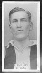 1933 W D & H O Wills Footballers Fred Phillips trade card