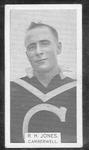 1933 W D & H O Wills Footballers R H Jones trade card