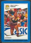 1989 Stimorol Rugby League Wally Lewis trade card