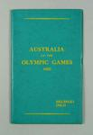 """Report, """"Australia at the Olympic Games 1952"""""""