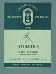 Programme for 1956 Olympic Games athletics events, 28 Nov