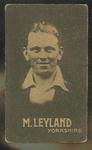 Trade card featuring Maurice Leyland c1930s