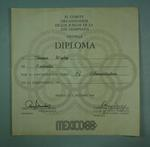 Diploma presented to Thomas Wigley, 1968 Mexico City Olympic Games