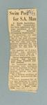 """Newspaper clipping, """"Swim Post for S.A. Man"""" - The Age, 21 Jun 1963"""