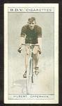 Trade card featuring Hubert Opperman c1930s