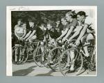 Photograph - Chris Wheeler & ors, await start Amateur Cycling 40 Mile Road Race May 1939