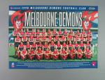 Poster of 1998 AFL Melbourne Demons Football Club Team players