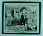 Framed political cartoon by JEFF of Brian Dixon in State Parliament