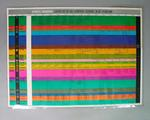 Poster featuring a programme of events for the 1968 Mexico Olympics.