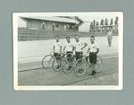 Photograph of 4 members of the Japanese Cycling Team, 1936 Olympic Games