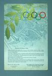 Welcome letter to athletes staying at 1936 Olympic Games Village