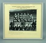 Framed black and white photograph of the Victorian Football League Representative Team, July 14th 1962