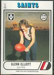 1976 Scanlens VFL Football Glenn Elliott trade card