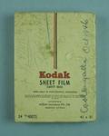 Box with eight glass plates, Kodak Sheet Film