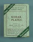 Box with glass plates & negatives, Kodak Plates