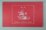 Red D & S Baseball Scoring Book - unused