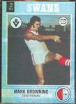 1977 Scanlens VFL Football Mark Browning trade card