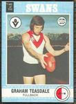 1977 Scanlens VFL Football Graham Teasdale trade card