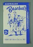 Australian Baseball Championships programme, 16-23 July 1960, Sydney.