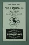 Booklet - 1960 Official Rules of Pony Baseball Inc for Pony League & Pony Grads