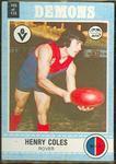 1977 Scanlens VFL Football Henry Coles trade card
