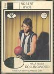 1975 Scanlens VFL Football Robert Hyde trade card