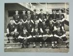 Black and white group photograph - 1949 Victorian Baseball Team and Officials