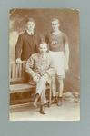 Photograph of Vic Aitken and two other men, c1908