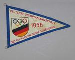 Pennant, German 1956 Olympic Games team