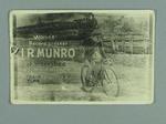 Photographic postcard - cyclist I.R. Munro, World's Record breaker at Werribee 1909