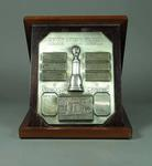 Trophy in display box - 1950 Helms World Trophy awarded to John B. Marshall, Australasia