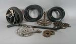 Group of 10  bicycle parts owned/ used by R. L. Bates