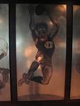 Etched brass plate - unidentified Brisbane footballer - artist Daniel Moynihan
