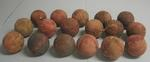 Seventeen cricket balls