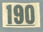 Athletic's competitor number - 190 - worn by William Ager