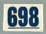Athletic's competitor number - 698 - worn by William Ager
