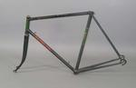 Black Malvern Star bicycle frame used by Robert Pearson when winning 1946 titles.