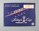 Programme, Australian Rowing & Sculling Championships 1956
