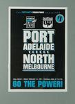 Leaflet listing players Port Adelaide FC v North Melbourne FC on 14/2/97